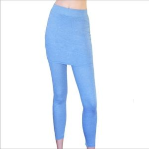 Peony and Moss Pants - Peony & Moss Light Blue skirted Leggings